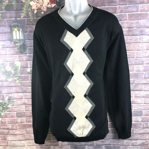Claiborne Men's Black Sweaters V-Neck Size XXL